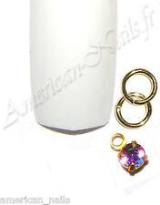Piercing anneau bijou d'Ongle Strass SWAROVSKI Light Amethyst AB 2,5mm Nail Art