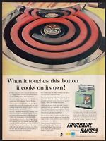 1956 FRIGIDAIRE RI-70-56 Turquoise Aqua Electric Range Vintage Kitchen Stove  AD