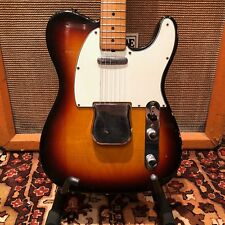 Vintage 1968 Fender Telecaster Sunburst Refin Maple Cap Electric Guitar w/ OHSC
