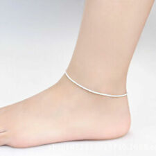 Anklet Foot Jewelry Chain Beach Us Hot Ankle Bracelet Women 925 Sterling Silver