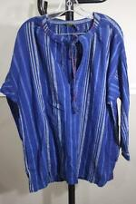 NWT Polo Ralph Lauren Men's Navy Blue Striped Tunic Top Size S (BL100