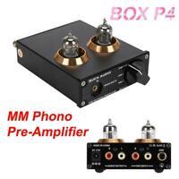 MM PHONO BOX P4 Tube Preamplifier Audio Preamp Amplifier Pre-amplifier Box Stage