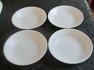 "Lot of 4 Corning Corelle Enhancements White Swirl 8½"" Soup/Pasta Bowls"