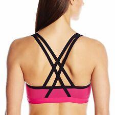 Lily of France Crosse-Back Medium-Impact Active Sports Bra 2151901 Pink/Black