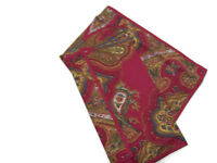 Williams Sonoma Multi Colors Red Harvest Paisley Dinner Napkins Set of 4 New