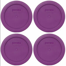 Pyrex 7200-PC Thistle Purple 5in. Round Plastic Replacement Lid Cover (4-Pack)
