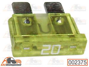 2 FUSIBLES 20 ampères (20A FUSE) pour Peugeot 205 309 405 605  -2375-