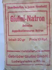 SACHET BICARBONATE DE SOUDE  GIULINI NATRON  ALLEMAND WW2