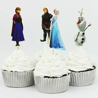 24 Pcs Frozen Elsa Cupcake Toppers Cake Toppers Cupcake Picks Party Supplies