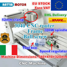 【IT+EU】3040 Ball Screw Desktop DIY CNC Router Milling Machine 52mm +300W Spindle