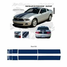 Ford Mustang 2010-2012 w/ Lip Wildstang Dual Stripe Graphic Kit - Blue