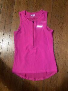 Zoot Cycling Jersey Triathlon Womens XS Sleeveless Pink