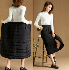 Women Down Cotton Long Skirt Lightly Quilted Padded Bubble A-line Dress Winter
