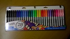 NEW Sharpie 28 Pack Fine Assorted Permanent Markers Pens Limited Edition (cut pk