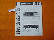 SERVICE MANUAL Kenwood KR 1000 english 1981 Anleitung hifi