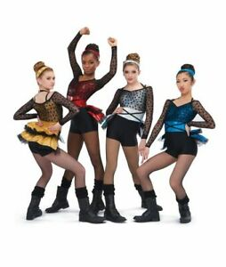 "A Wish Come True ""Undercover"" Yellow Black Dance Costume Dress Up Child Size MC"