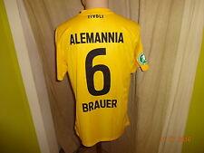 "Alemannia Aachen nike matchworn camiseta 2012/13 ""Geller"" + nº 6 Brauer talla m"