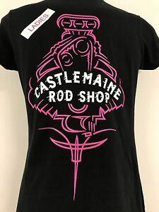 CASTLEMAINE ROD SHOP LADIES PINK PINSTRIPE SHIRT