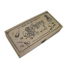 Caja de costura de madera vintage que hacer y Mend Shabby Chic Antiqued 24cm X 12cm