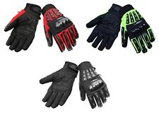 New Vented Summer Short Motorcycle Motorbike Gloves Thermal Armoured Knuckle