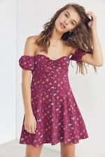 URBAN OUTFITTERS KIMCHI BLUE Melissa Empire Waist Off The Shoulder Dress XS, $59