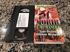 Morir A Mi Manera Rare VHS! Spanish Mexi Accion! Luis Vatican