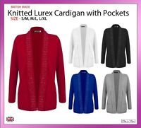 Ladies Knitwear Long Sleeve Edge to Edge Cardigan Coat Outwear Size 10-20