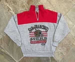 Vintage San Francisco 49ers Super Bowl XXIV Football Sweatshirt, Size Large