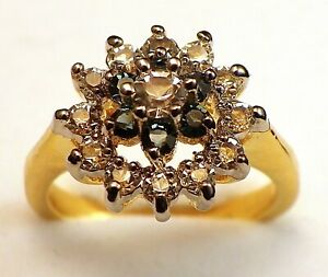 Dress ring in gold plate with Austrian crystals size K