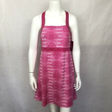 Soybu Athletic Dress Large Pink Sleeveless Built In Bra New Stretch Workout