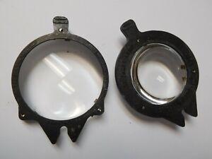 Vintage Pair Viewlex Front Rear Condenser Lamp Lens RCR-1 FCR-1