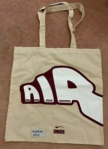NIKE Air More Uptempo Bordeaux Snkrs Tote Bag NEW