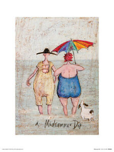 Sam Toft Midsummer Dip Art Print 12 x 16 Inches Officially Licensed