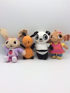 """Bing Bunny Friends Sula Flop Coco Pando Soft Toys Approx 7"""" Plushies"""