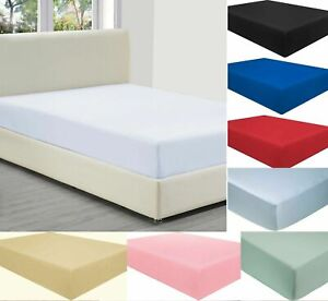 40CM EXTRA DEEP Fitted Sheet Bed Sheets For Mattress Single Double King Size