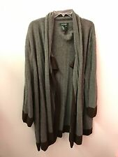 Lauren Ralph Lauren Sweater 2X 3X 4X Wool Cashmere Coat Jacket Tunic Euc