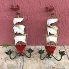 Pair of Vintage Nautical Italian Tole Ship Sconces by Florentia