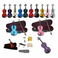 New Student Violin,Case,Bow+2 Sets of Strings,Bridges,Shoulder Rest,Music Stand