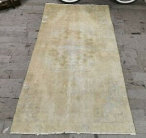 Beige Bohemian Style Turkish Rug, Anatolian Boho Area Rug, Beige Carpet 4x7 ft