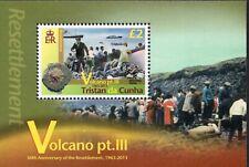 Tristan Da Cunha 2013 Volcano part three sheet UM (MNH)