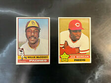 1976 Topps Two Cards Morgan(#420)-McCOVEY(#520)