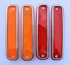 73 74 75 76 77 78 79 80 Chevy Truck 4 Side Marker Light Lenses & Trim 2 Red,2 Am