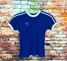 VINTAGE Kids Youth Boys ADIDAS ORIGINALS Shirt Blue White