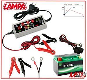 Carica Batteria Moto Mantenitore Amperomatic GEL/STD, AGM, Litio, da1,2 a 120 Ah