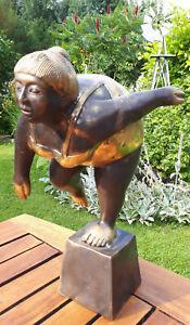35cm Bronze Frau Figur Skulptur Sport lerin Turnerin Art Deco Stil Jugendstil