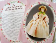 """19p Article Quilt Patterns & Paper Doll - Tasha Tudor """"A is for Annabelle"""" Study"""