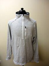 LULULEMON Black White Striped Cotton Blend Half Zip Pullover Sweater XL HH3805