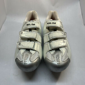Women's 10 sz 42 Pearl Izumi Select Rd 5768 Cycling Shoes White Interfade Biking