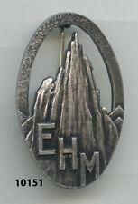 Insigne chasseurs alpins , École de Haute Montagne  , ( ARGENT, , matriculé )
