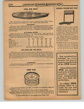 1927 PAPER AD Pioneer Steel Row Boat Fishing Boat Copper Tip Tipped Oars